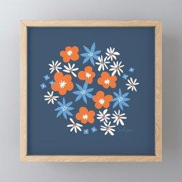 Orange Wildflowers No. 10 Framed Mini Art Print