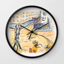 X voYages de Zed (toile 2 série 1) Wall Clock