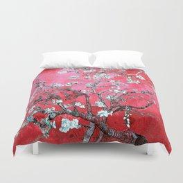 Van Gogh Almond Blossoms : Reddish Pink & Light Blue Duvet Cover