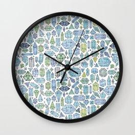Magical Crystals - Illustration Pattern Wall Clock