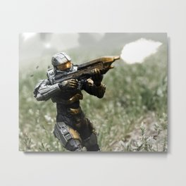 Covering Fire Metal Print