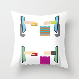 Cyber Monday Sale Special Offer Throw Pillow