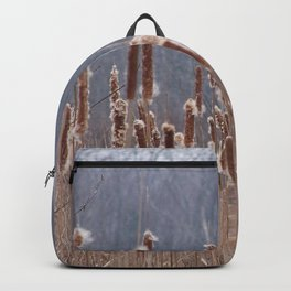Cattails in Summer Backpack