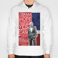 obama Hoodies featuring Barack Obama by kaseysmithcs