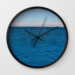 Water & Sky Horizon Round Photo Wall Clock