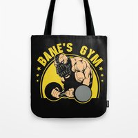 gym Tote Bags featuring B Gym by Buby87