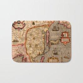 Map Of China 1606 Bath Mat