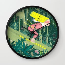Spring in the jungle Wall Clock