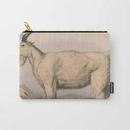 Vintage Illustration of a Goat (1874) Carry-All Pouch