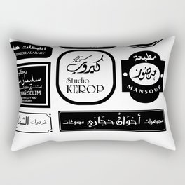 Cairo Signage Rectangular Pillow