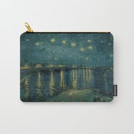 The starry night over the Rhône, 1888, Vincent van Gogh, Musée d'Orsay, Paris. Carry-All Pouch