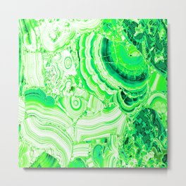 Malachite Green Metal Print