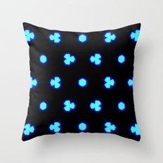blue neon Throw Pillow