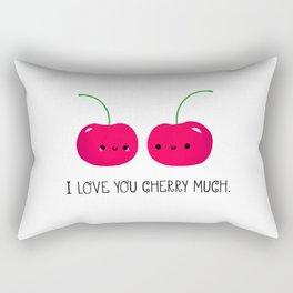 I Love You Cherry Much Rectangular Pillow