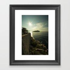 Dubrovnik Island  Framed Art Print