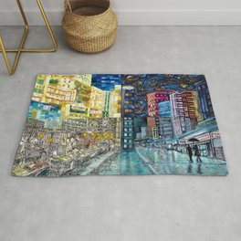 Hong Kong Night Street-Jordan Rug