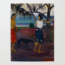 Paul Gauguin - I Raro Te Oviri (Under the Pandanus) (1891) Poster