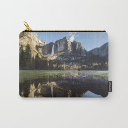 Sunrise over Yosemite Falls Carry-All Pouch