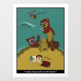 Long Ewoks on the Beach - Full Art Print