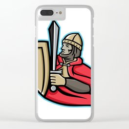 Medieval King Regnant Mascot Clear iPhone Case