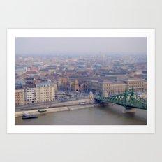 Budapest from Mount Gellert Art Print