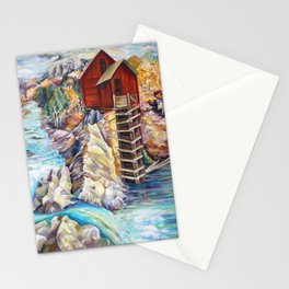 Rocky Mountains Colorado, Crystal Mill Marble, Wooden Old Mill Stationery Cards