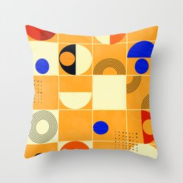 Mid-century abstract no3 Throw Pillow