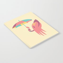 Cuttling Weather - Coral & Cream Notebook