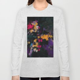 Purple and Yellow Abstract / Surrealist Painting Long Sleeve T-shirt