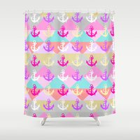 anchors Shower Curtains featuring Anchors by Ornaart