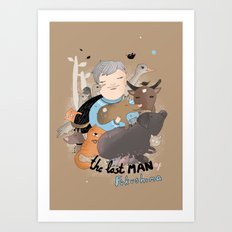 The Last Man in Fukushima Art Print