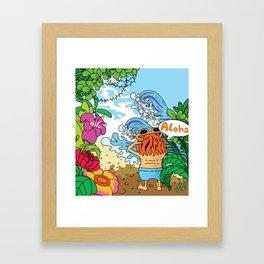 Lost in tropic island Framed Art Print