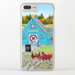 Bountiful Harvest Clear iPhone Case