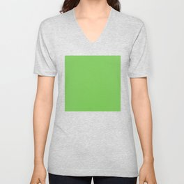 GREEN FLASH PANTONE 15-0146 Unisex V-Neck