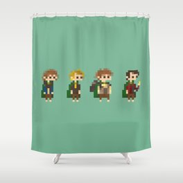 Frodo, Sam, Pippin and merry Shower Curtain