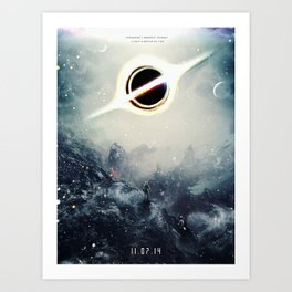 Interstellar Inspired Fictional Sci-Fi Teaser Movie Poster Art Print