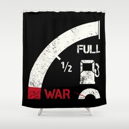 Mile away from war Shower Curtain