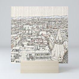 Austria - sketchy Vienna 1 Mini Art Print