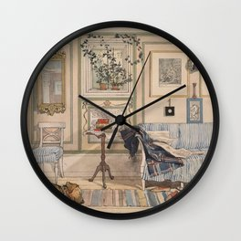 Carl Larsson - Cosy Corner (From a Home watercolor series) Wall Clock
