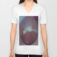 lunar V-neck T-shirts featuring Lunar Light by Jane Lacey Smith