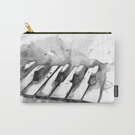 Watercolor Piano (Grayscale) Carry-All Pouch