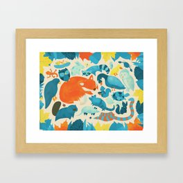 Wildlife Collage Woodland Creatures and Cute Animals Framed Art Print