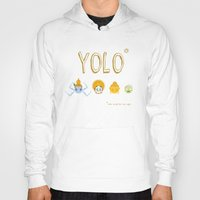 yolo Hoodies featuring YOLO by Kathryn Hudson Illustrations
