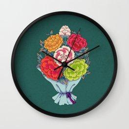 Minhwa: Peony Bouquet H Type Wall Clock