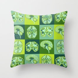 Brain Sections Throw Pillow