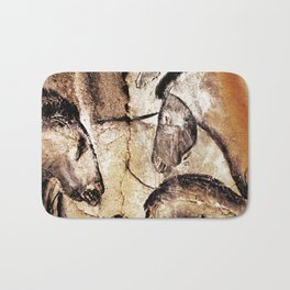 Facing Horses // Chauvet Cave Art Bath Mat