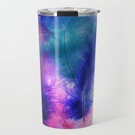 Colorful Feathers Travel Mug