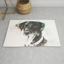 Labrador Retriever Digital Watercolor Painting Rug