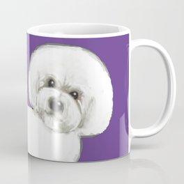Bichon Frise dog on Ultraviolet, 2018 Bichon , Year of the dog, Pantone Ultraviolet Coffee Mug