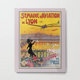 1910 Aviation week Lyon France Metal Print